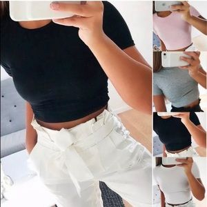 Tops - Woman's cropped T-Shirt
